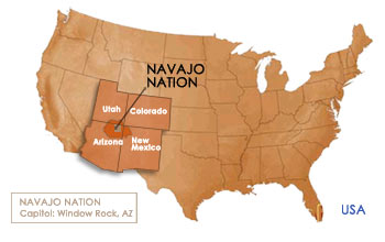 Fast Facts, Location Map, Navajo Nation